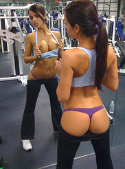 College Girl at Gym 09