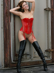 Red Corset and Boots 03