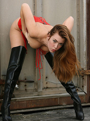 Red Corset and Boots 08