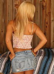 Denim Mini Skirt 03
