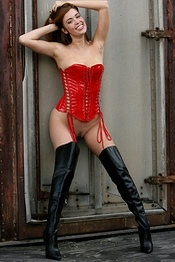 Red Corset and Boots