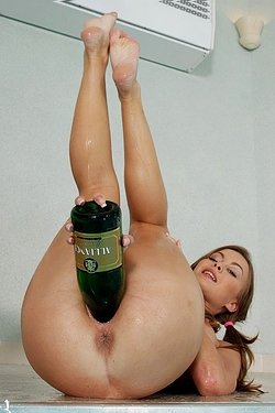 Mia Rides A Bottle